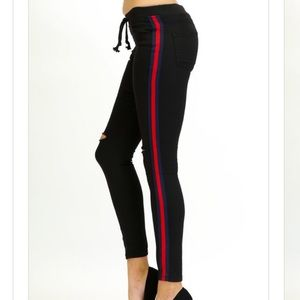 Pants - Side striped joggers